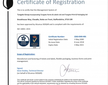 Tungate Group ISO14001
