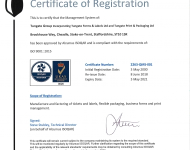 Tungate Group ISO9001